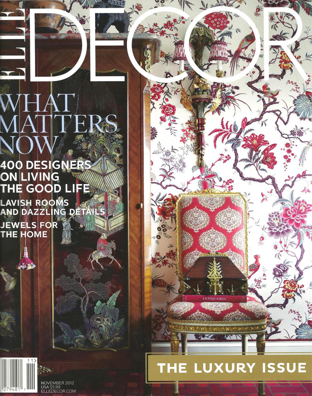 Elle Decor, November 2012