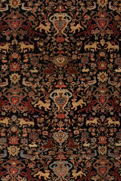 Antique carpets Persian feraghan red botanical figurative 12x8 bb6310