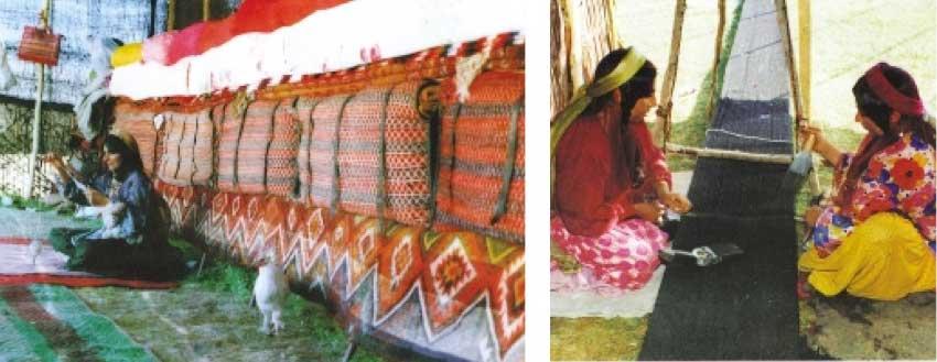 Qashqa%e2%80%99i women weave
