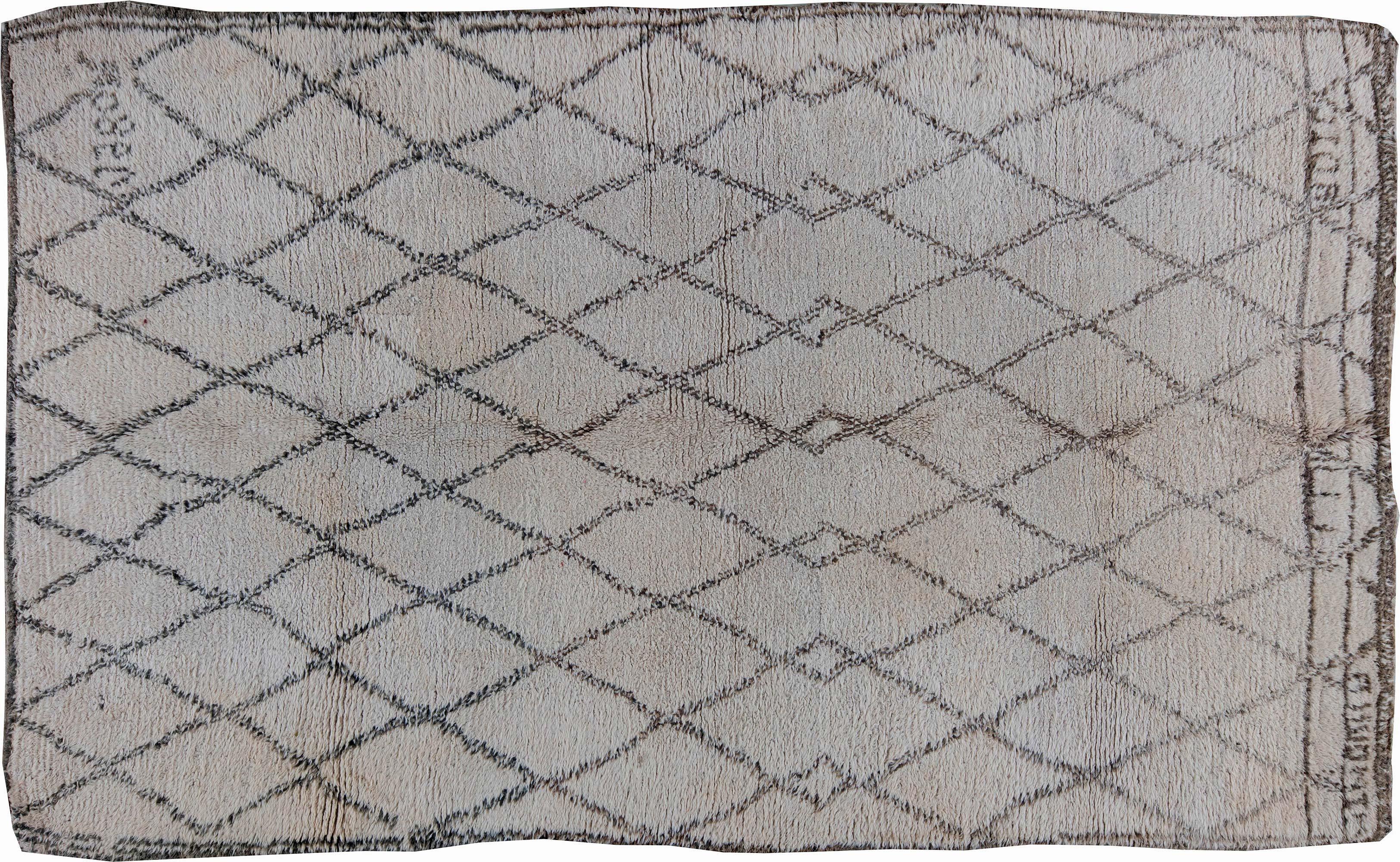 Vintage Tribal Moroccan Natural Wool