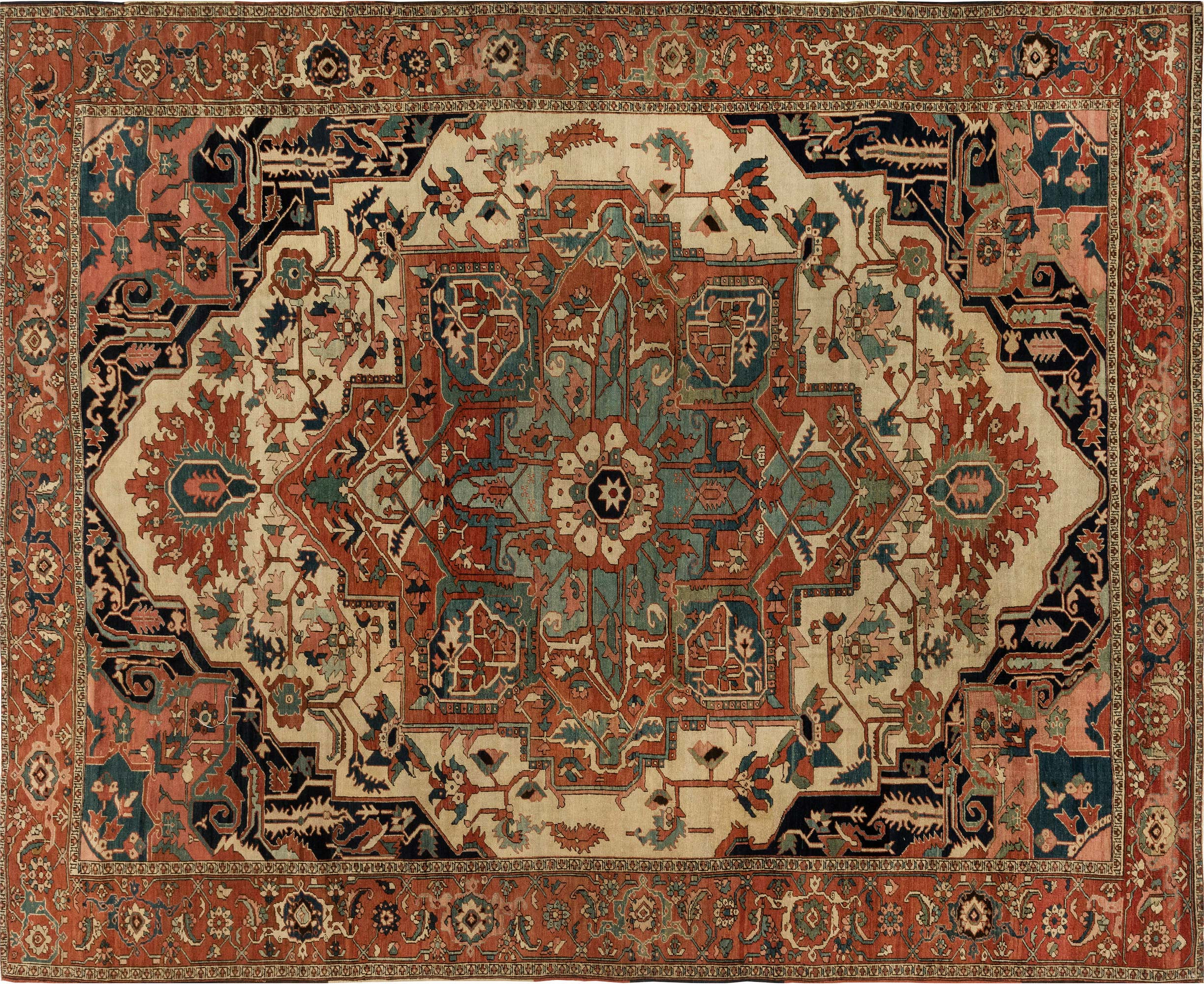 Persian Heriz Carpet BB6847 by DLB