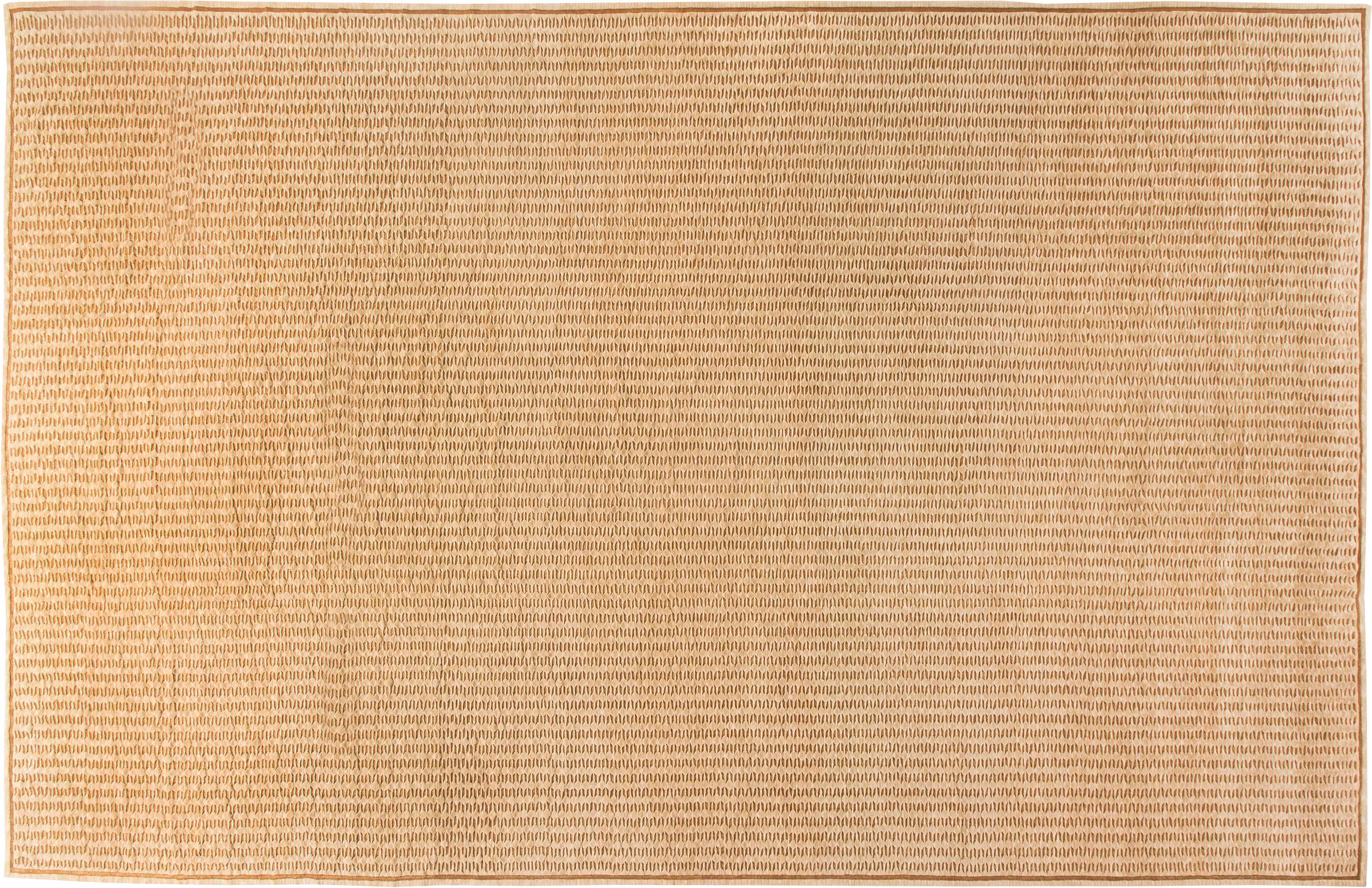 Brown Hand Knotted Wool