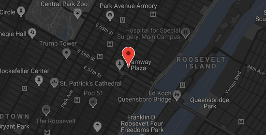 Mapa handlowa Doris Leslie Blau NYC