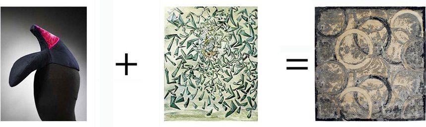 Surrealismus in Teppich Design-