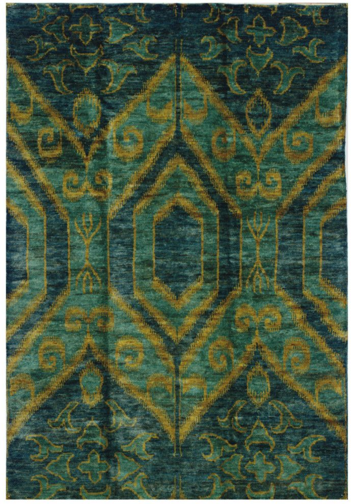 A DORIS LESLIE BLAU IKAT-INSPIRED CARPET