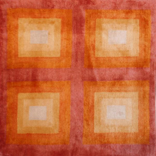 A New Tibetan Orange-Ombre Rug
