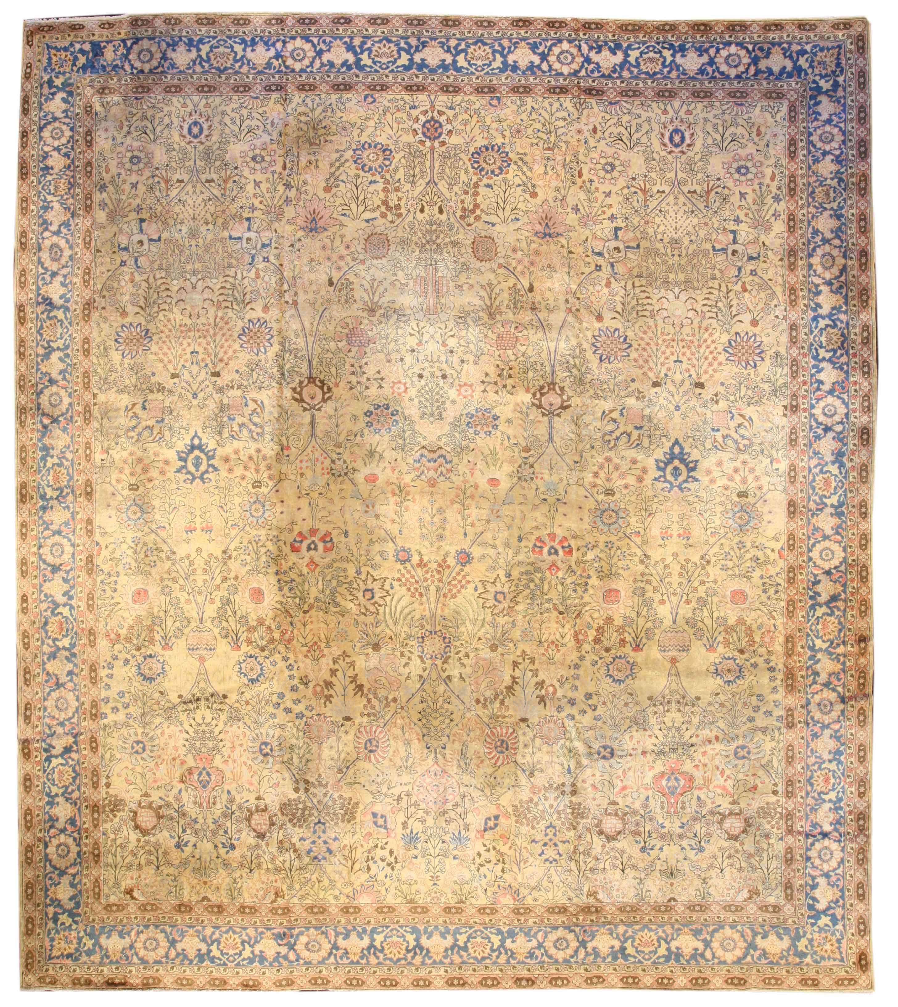 BB0251 Turkish Hereke 14.7 x 12.8 C.1920