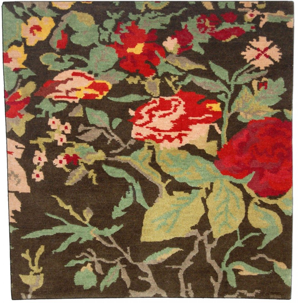 new-rug-custom-tibetan-wool-silk-damasks-deco-caage-rose-deco-brown-botanical-3562