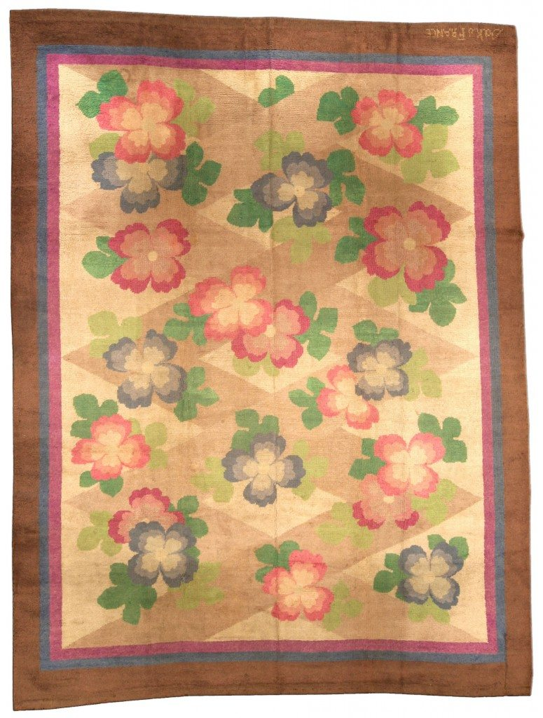 vintage-rug-modern-french-art-deco-deco-beige-botanical-geometric-bb4340-11x8