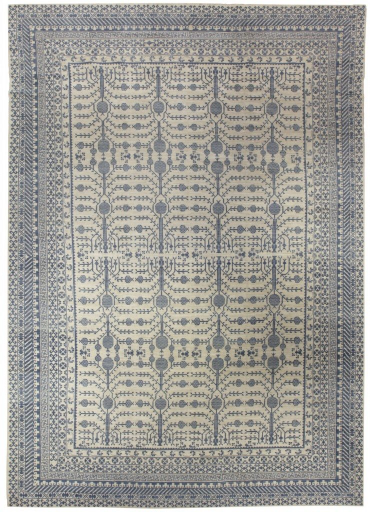 modern-carpet-samarkand-khotan-wool-geometric-n10668-20x14