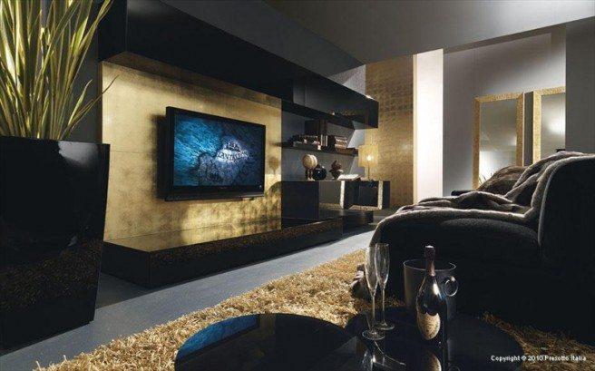 Moden-Black-and-Gold-Theme-of-Living-Room-Interior-Design-from-Presetto-Italia