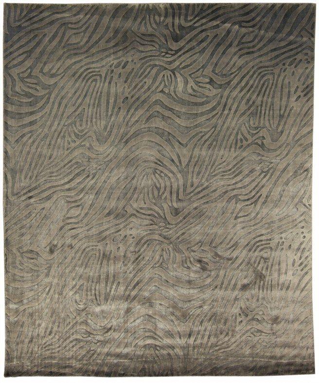 contemporary-rugs-animal-silver-custom-modern-bamboo-silk-gray-animal-animal-n10607-10x8