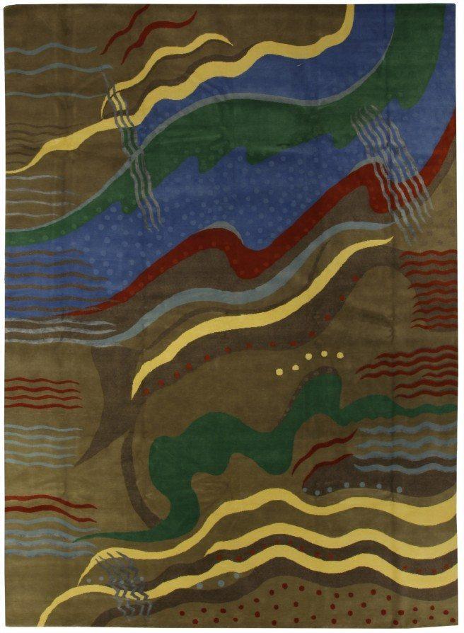 new-rug-tibetan-silk-wool-modern-deco-wool-abstract-n10627-14x10