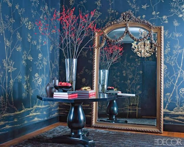 Take a look at these wonderful examples of chinoiserie, I hope they inspire you as they did me