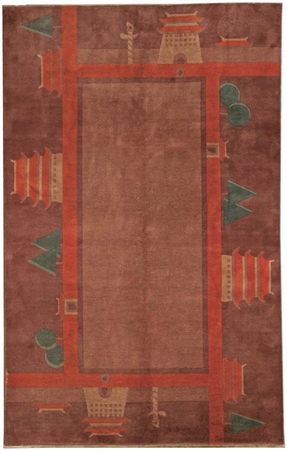 carpets-vintage-chinese-samarkand-deco-.htm-brown-minimalist-geometric-bb4803-8x4