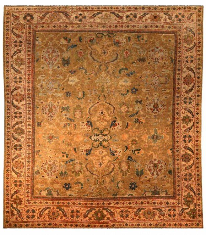 antique-carpet-persian-sultanabad-beige-botanical-bb4057-11x9