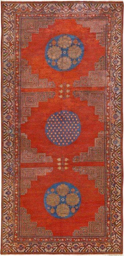vintage-rug-chinese-samarkand-khotan-silk-orange-geometric-bb4577-11x5