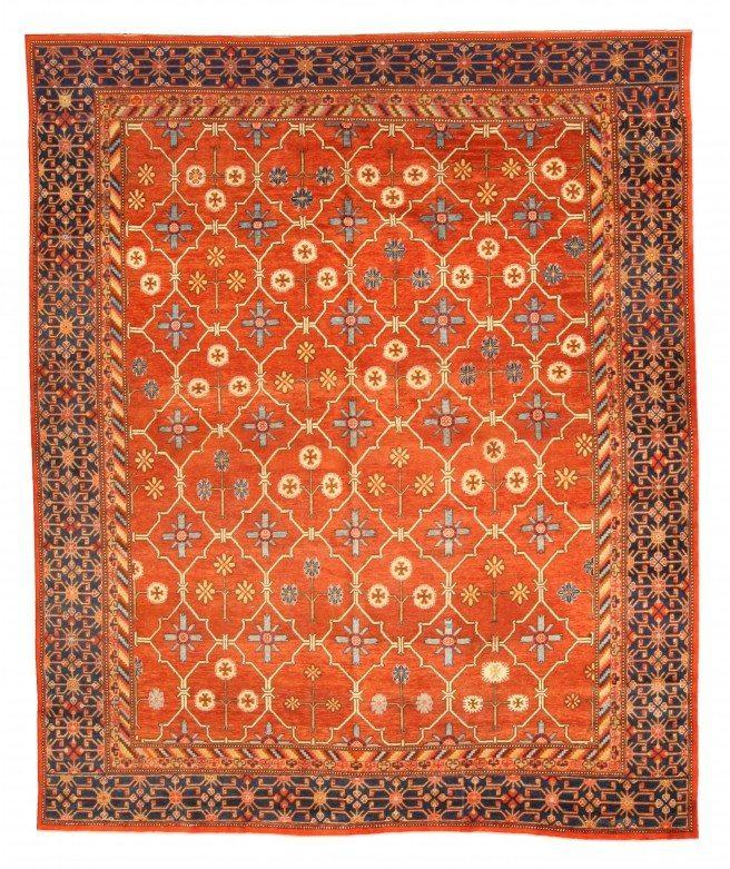vintage-rugs-samarkand-red-botanical-bb4672-11x9