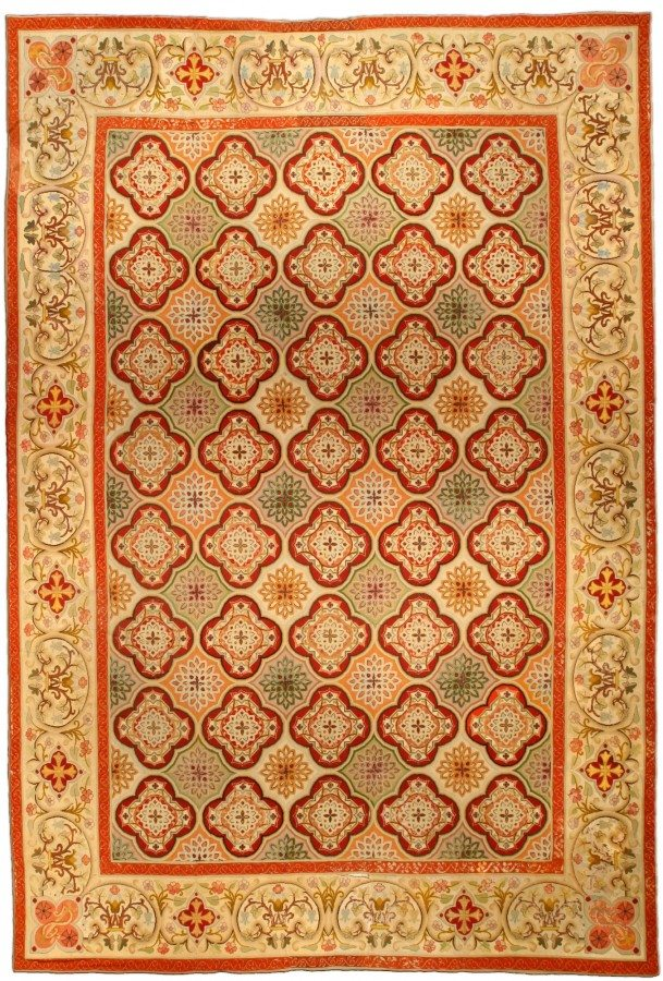 antique-carpet-european-american-french-needlework-red-geometric-bb4531-17x12