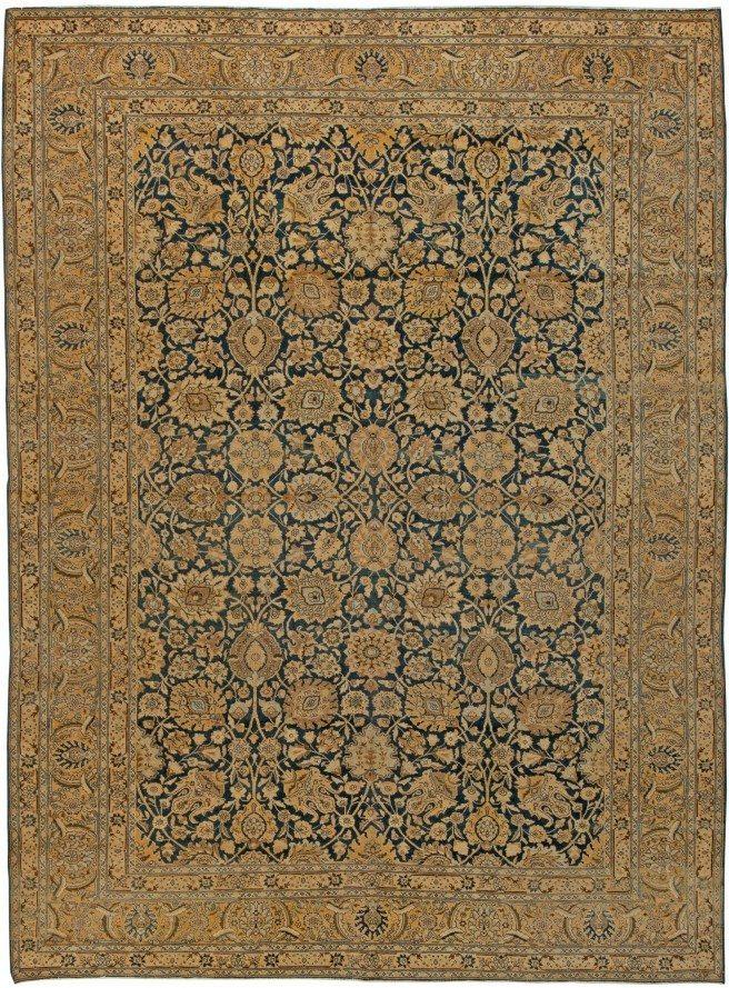 antique-carpet-persian-tabriz-blue-botanical-12x9-bb5650