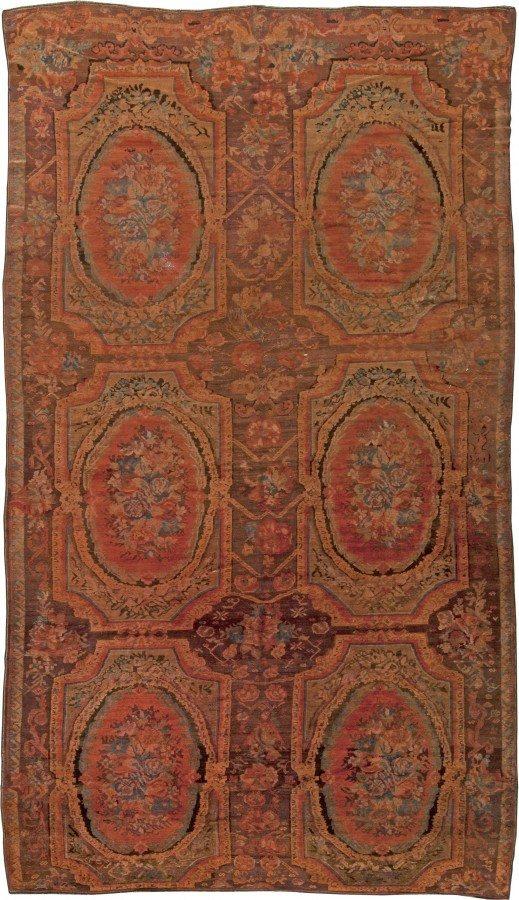 antique-tapete-russa-caucasiano-Karabagh-vermelho-botânico-14x8-bb5658-