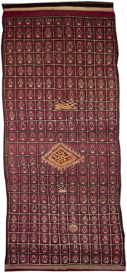 vintage-rug-avintage-moroccan-red-geometric-minimalist-bb4796-12x4
