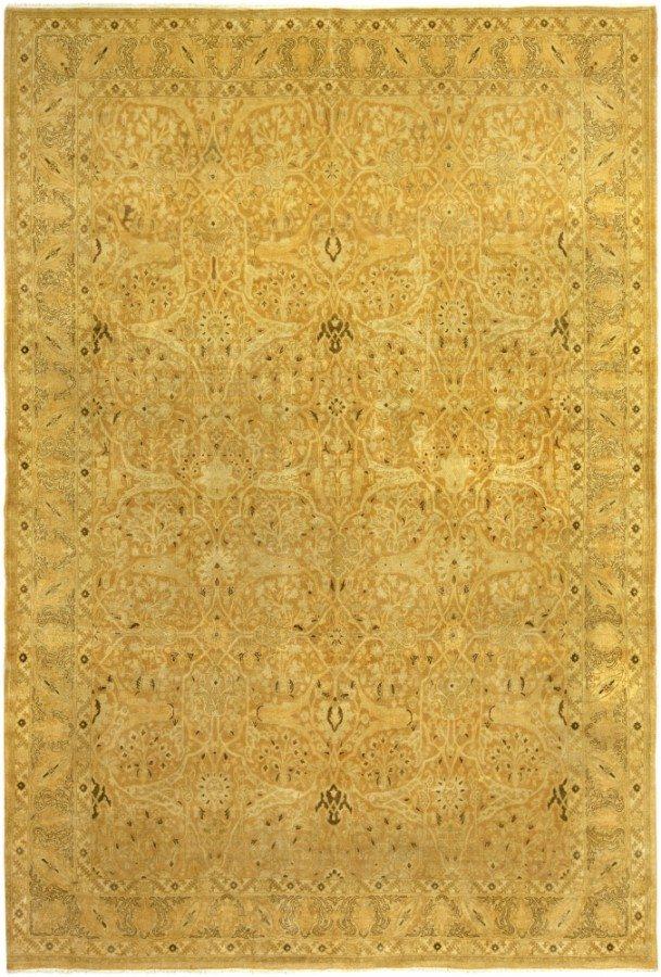 antique-carpet-persian-tabriz-gold-floral-botanical-bb5236-11x8