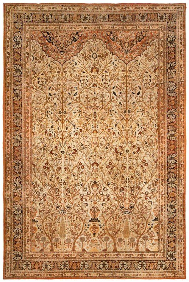 antique-rugs-tabriz-brown-botanical-bb4878-18x12