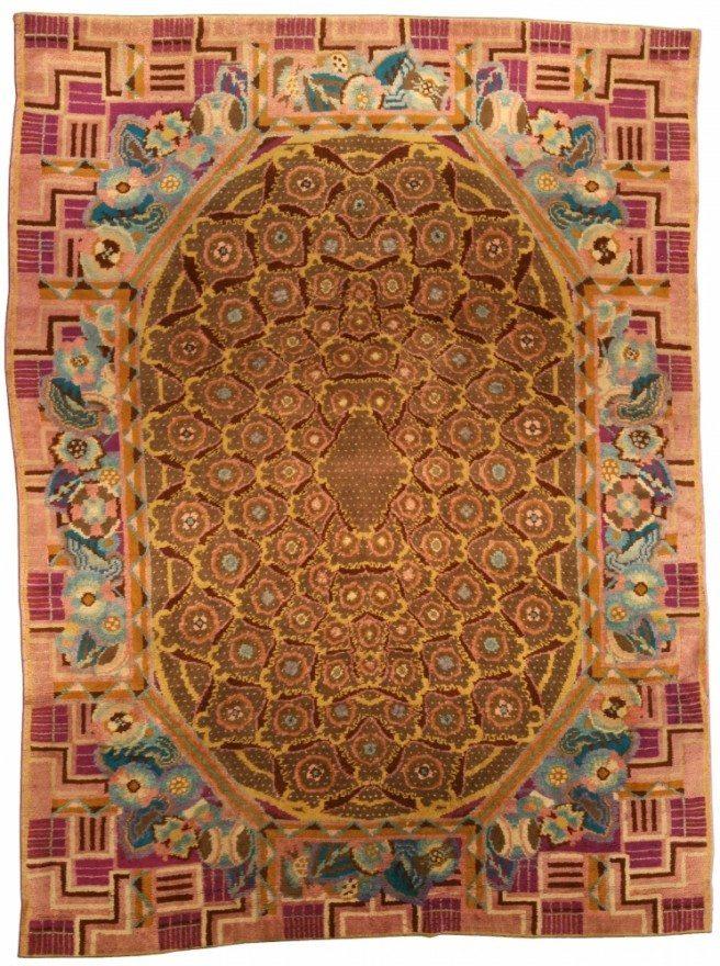 vintage-rugs-modern-french-art-deco-deco-brown-geometric-botanical-bb4342-11x8