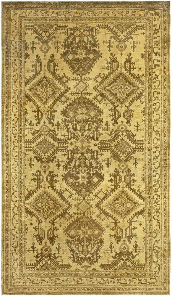 antique-carpet-oushak-turkish-brown-geometric-bb5222-19x11
