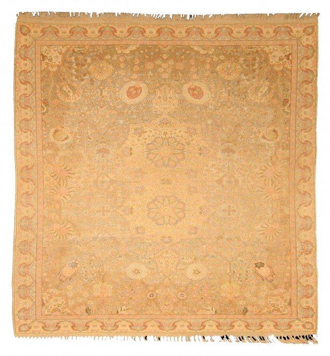 antique-rugs-turkish-hereke-beige-botanical-bb4740-5x5
