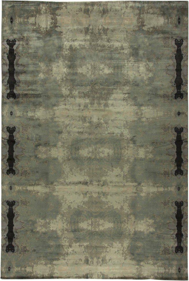 new-rugs-eskayel-kusafari-silk-modern-banana-silk-gray-abstract-18x12-n11202