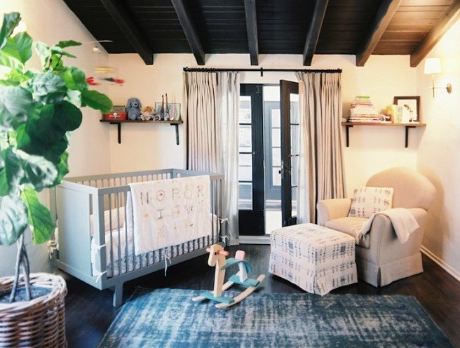 room, blue, rug