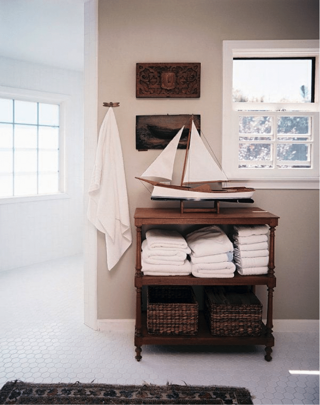 boat in a home