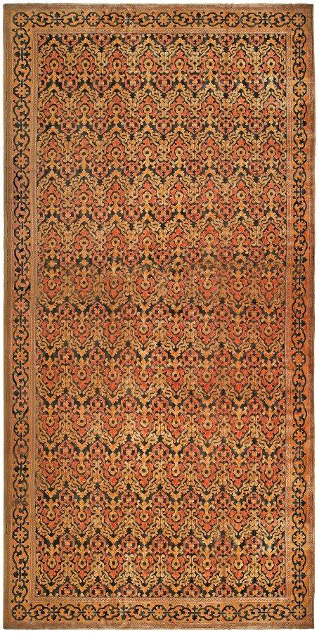 vintage-carpet-european-american-spanish-cuenca-.htm-gray-botanical-bb4831-32x15