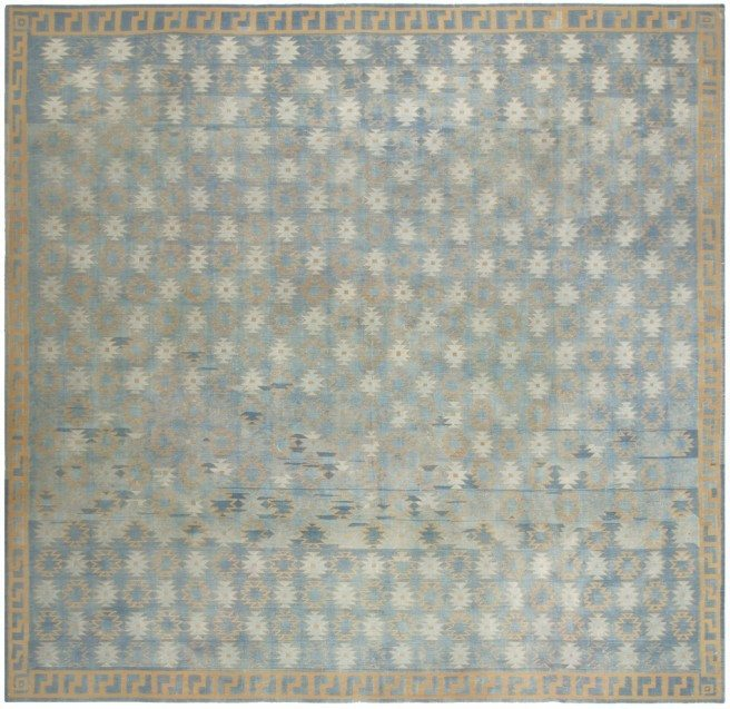 antique-rugs-indian-dhurrie-blue-floral-geometric-bb4887-12x11