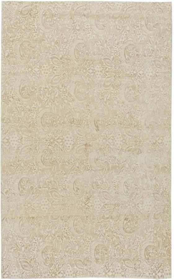 new-rug-tibetan-silk-wool-silk-beige-11x7-n11062