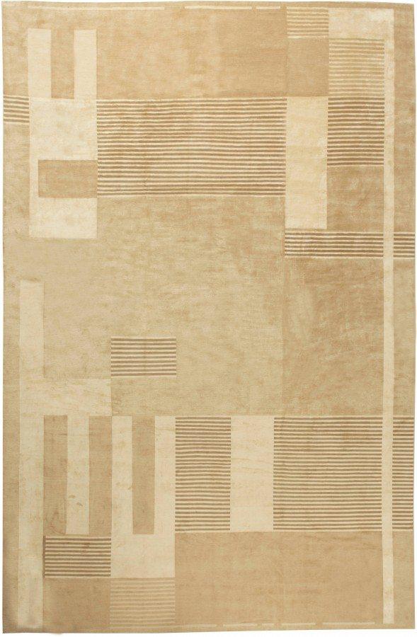contemporary-rug-custom-tibetan-brown-geometric-minimalist-21x14-n11286