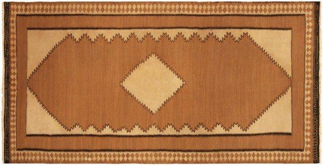 antique-carpet-persian-kilim-brown-geometric-bb5216-8x5