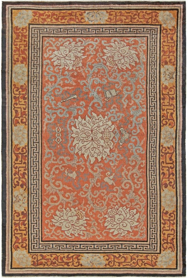 Antique Chinese Silk rug BB5626