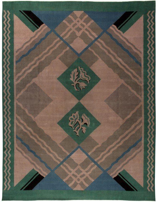 Vintage Chinese Deco rug BB5399