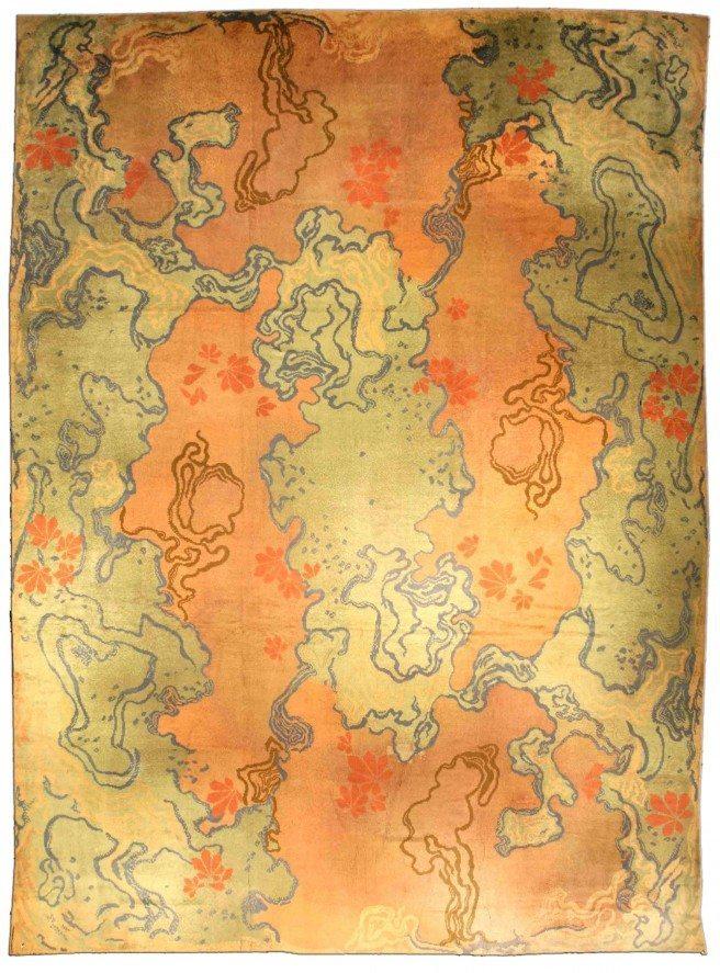 Art vienense Vintage Nouveau Rug #BB1567, c. 1910 via Doris Leslie Blau