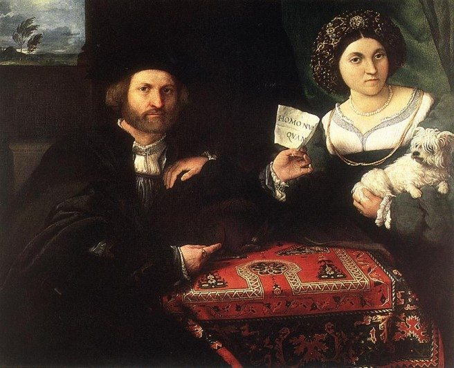 Husband and Wife, 1523, by Lorenzo Lotto [Public domain], via Wikimedia Commons