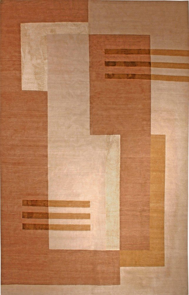 contemporary-rug-custom-tibetan-brown-geometric-minimalist-12x8-n11010