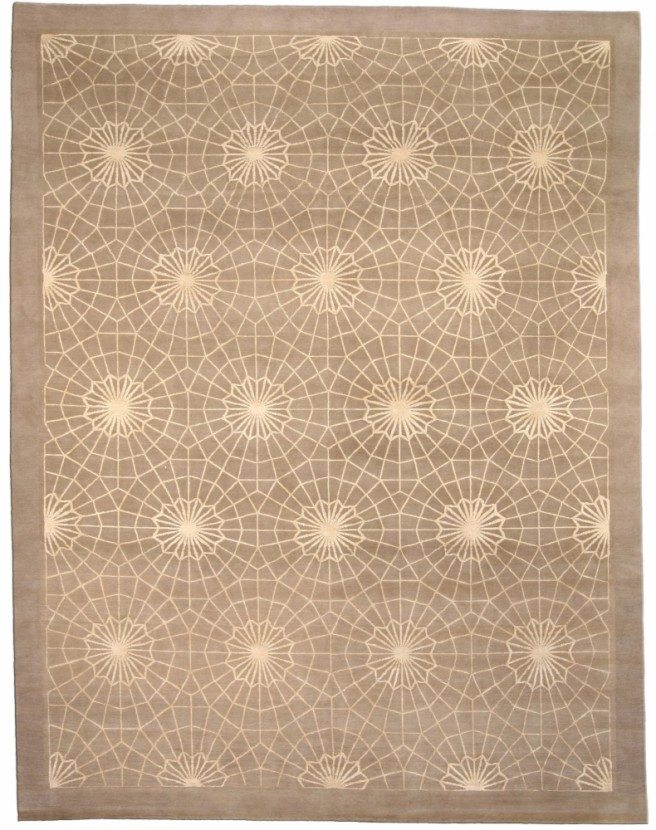 contemporary-rug-custom-tibetan-spider-web-gray-geometric-3615-12x9