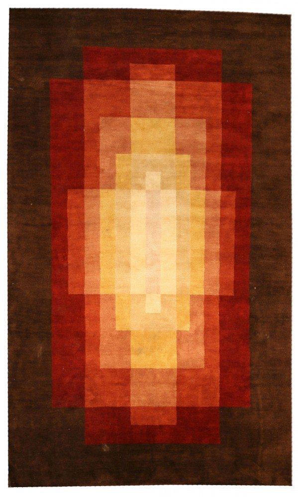 contemporary-rugs-custom-tibetan-sb-brown-minimalist-geometric-3395-10x6
