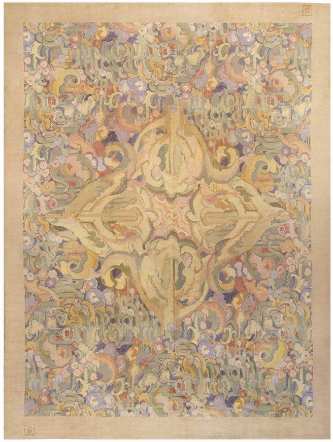 vintage-carpet-modern-deco-by-frank-brangwyn-deco-beige-bb0106-14x11