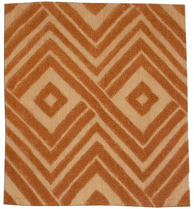 DLB orange high-low rug