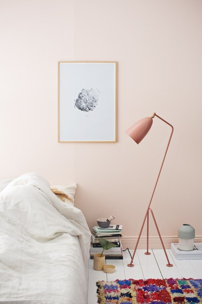 pale-pink wall