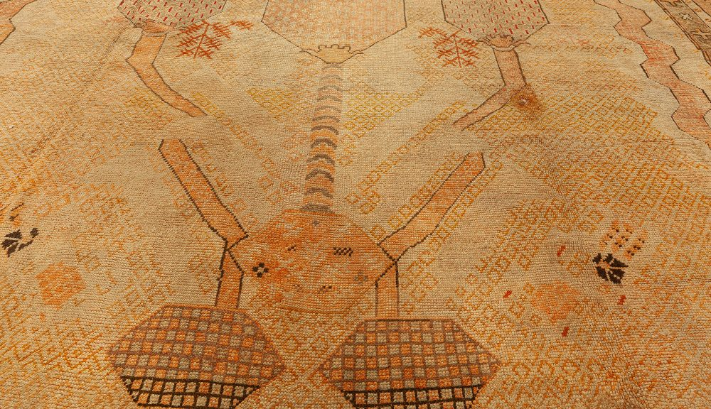 Oversized Antique Turkish Oushak Rug BB0671
